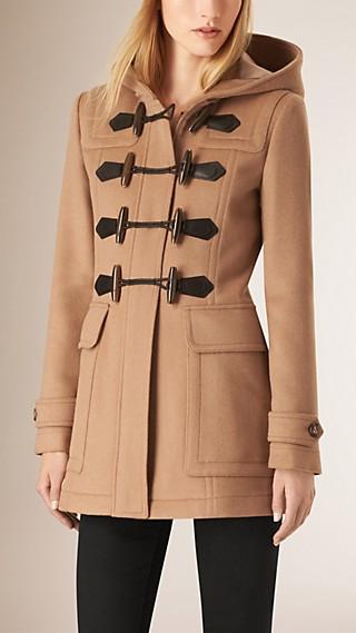Duffle-coat ajusté en laine