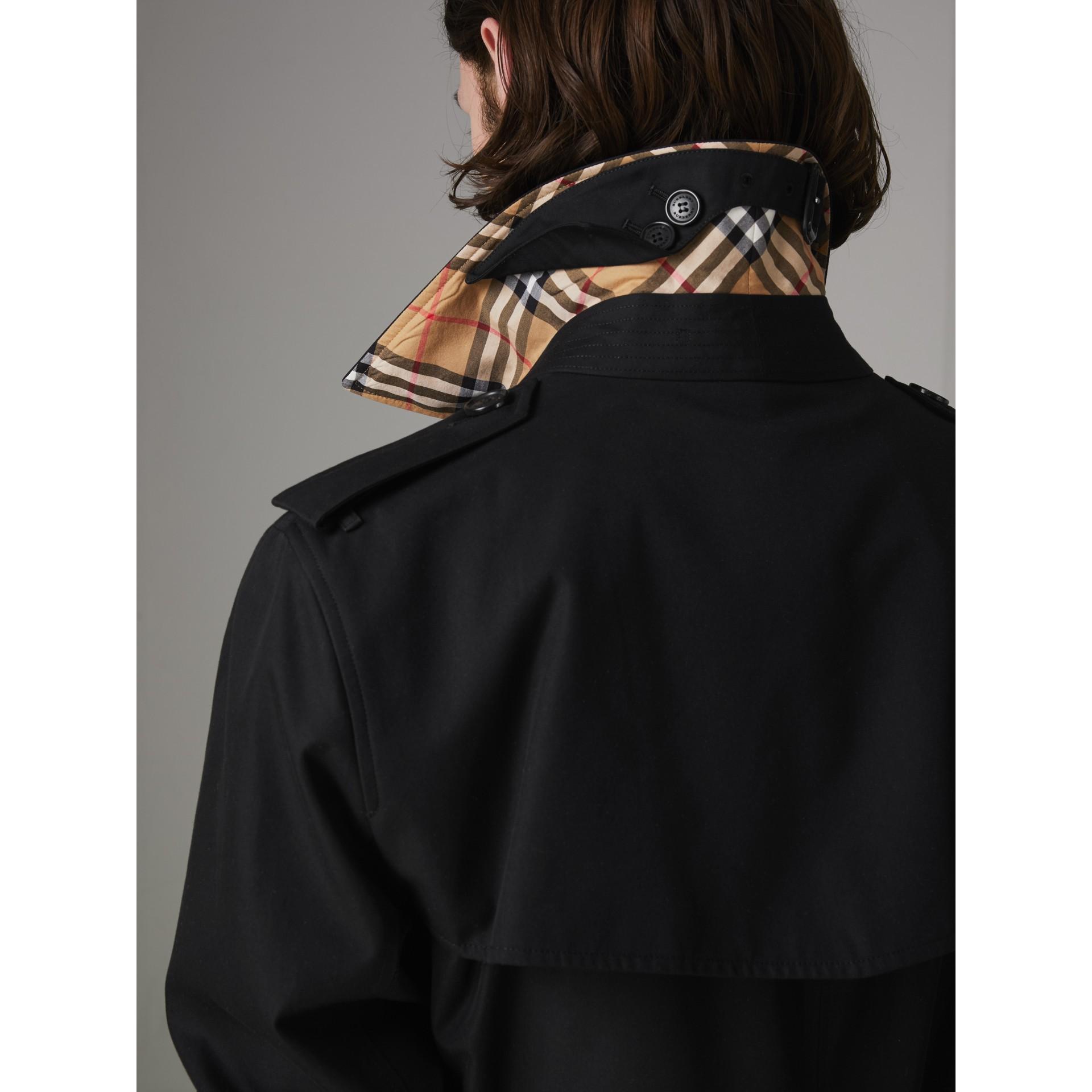 The Kensington - Trench coat Heritage longo (Preto) - Homens | Burberry - galeria de imagens 1