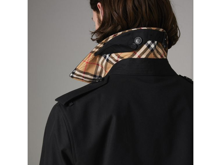 The Long Kensington Heritage Trench Coat in Black - Men | Burberry United States - cell image 1