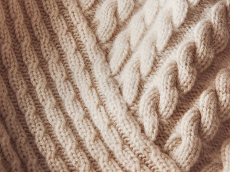 One-shoulder Cable Knit Cashmere Sweater - Women | Burberry - cell image 1