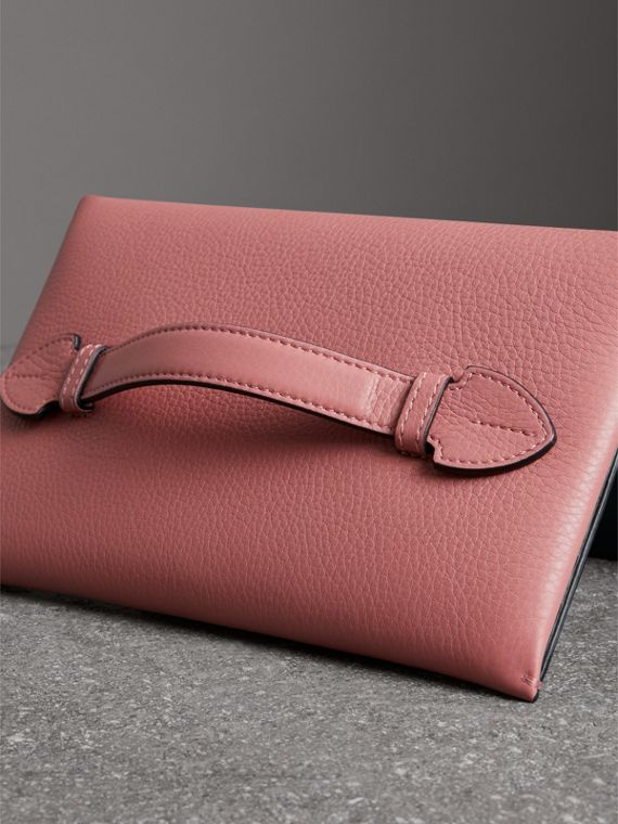 Two-tone Leather Wristlet Clutch in Dusty Rose - Women | Burberry - cell image 2