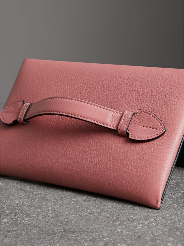 Two-tone Leather Wristlet Clutch in Dusty Rose - Women | Burberry Singapore - cell image 2