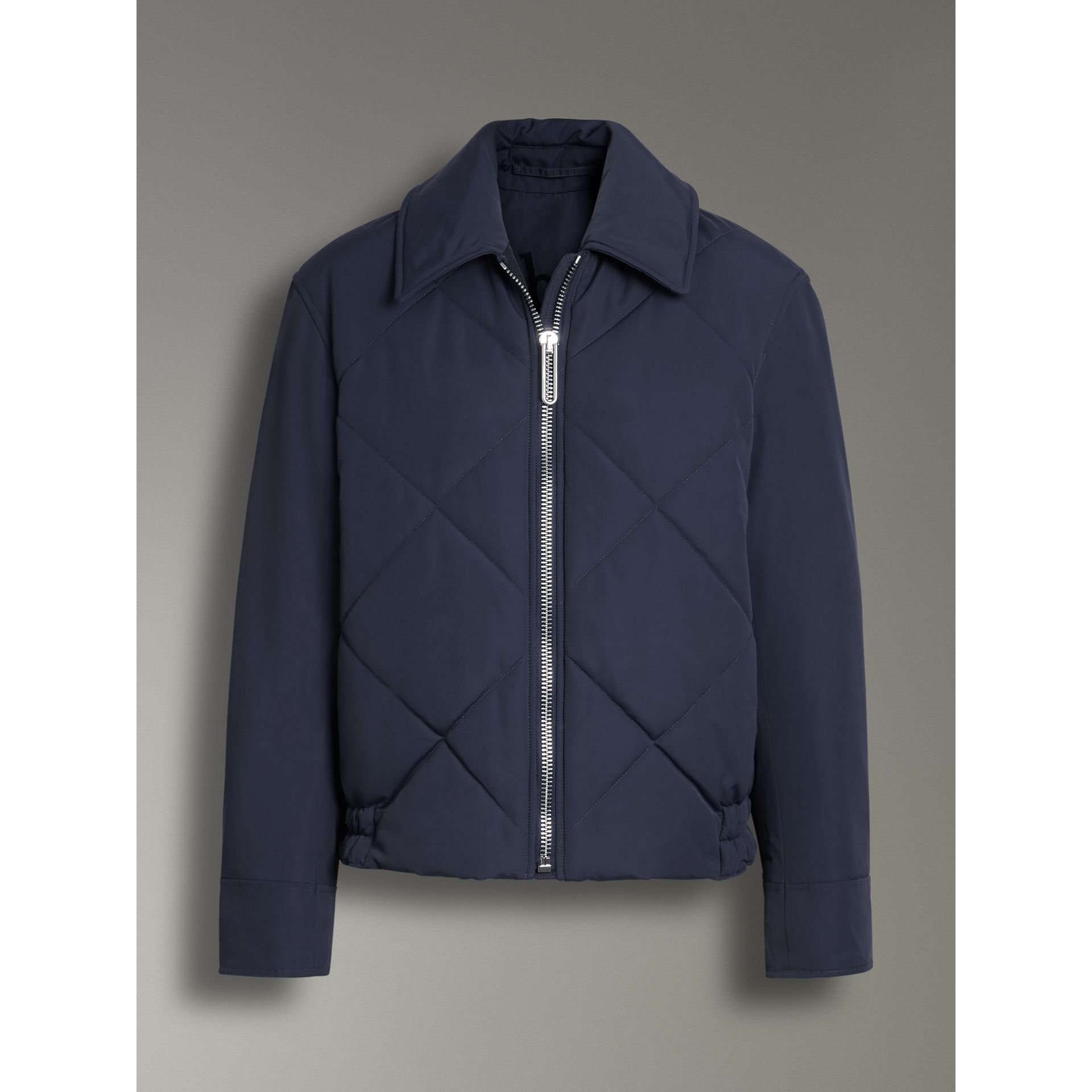 Quilted Technical Cotton-blend Jacket in Navy - Women | Burberry - gallery image 3