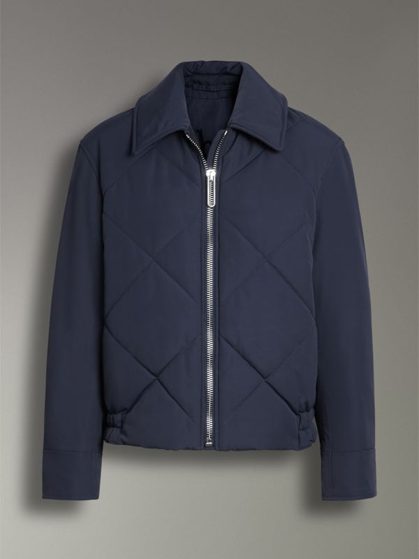 Quilted Technical Cotton-blend Jacket in Navy - Women | Burberry - cell image 3