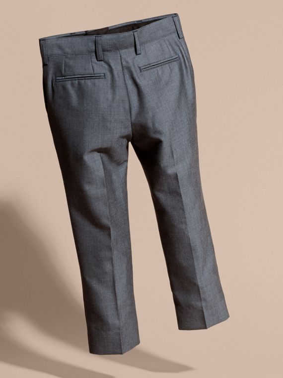 Tailored Wool Trousers Airforce Blue - cell image 3