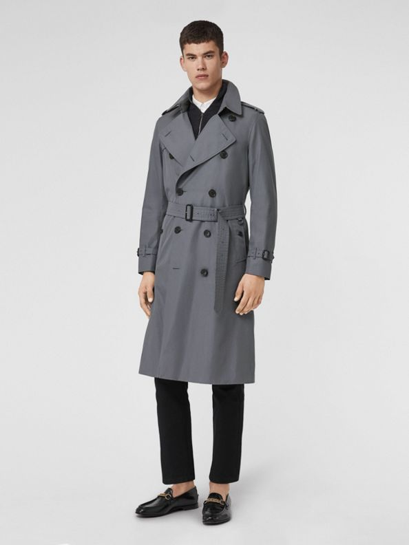 TheChelsea – Trench Heritage long (Gris Moyen)