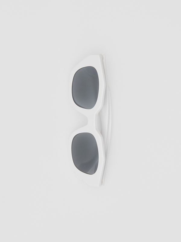 Geometric Frame Sunglasses in White - Women | Burberry - cell image 2
