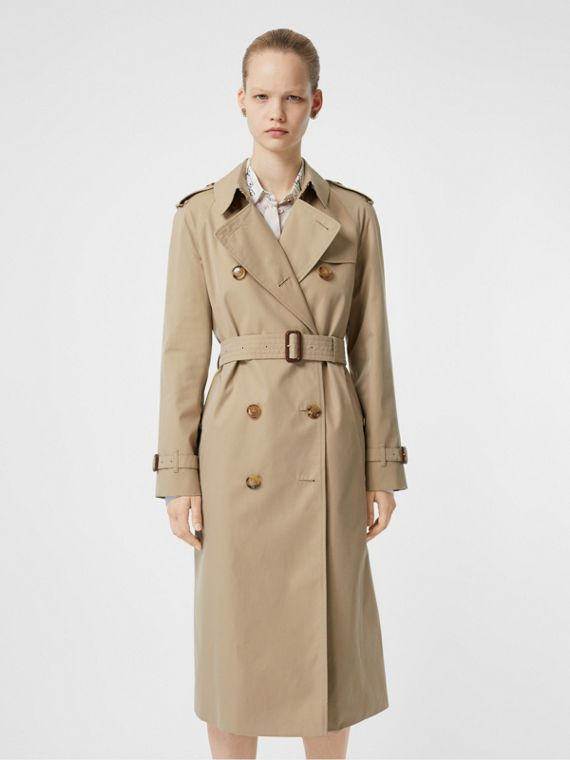 The Long Waterloo Heritage Trench Coat in Honey