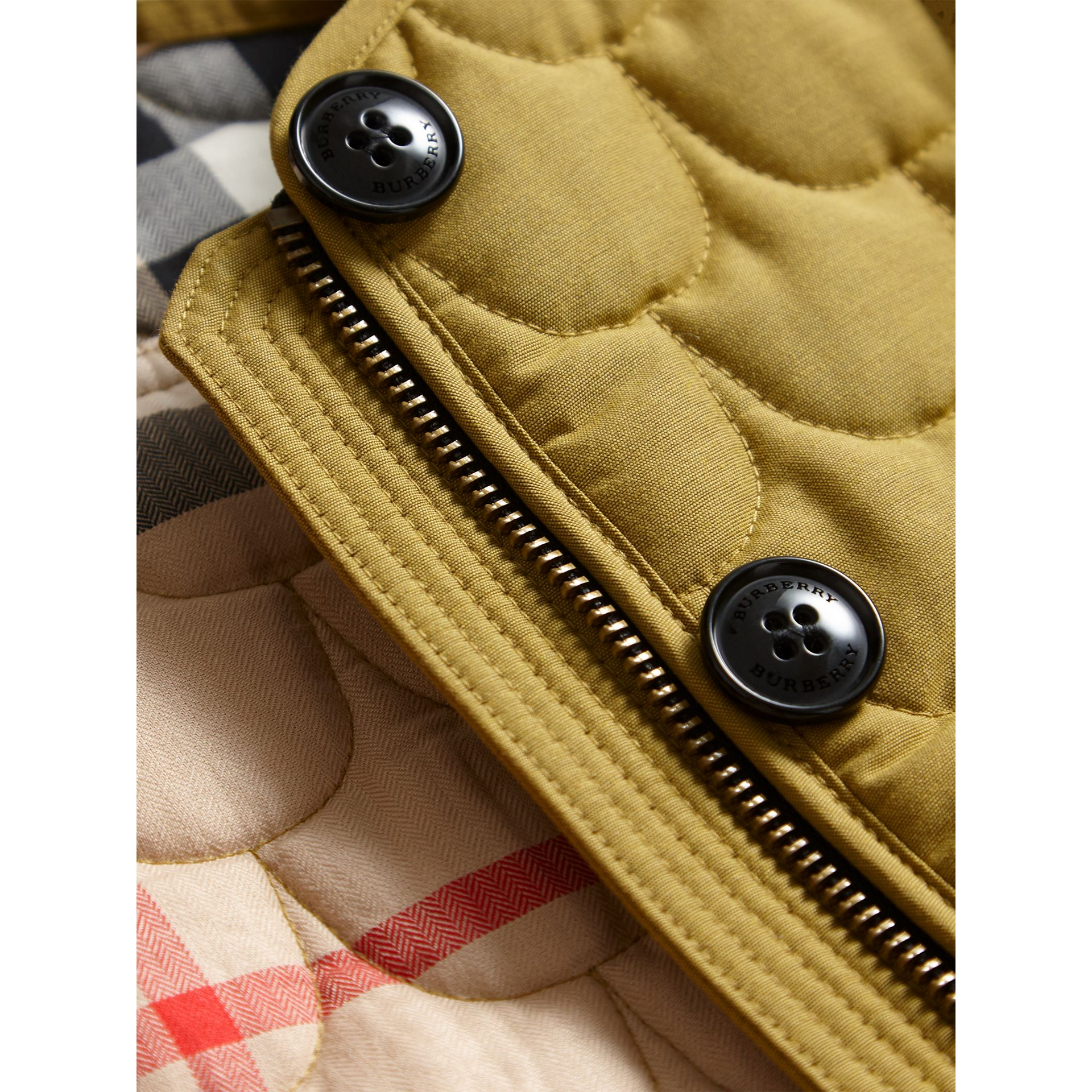 Collarless Scallop-quilted Jacket in Dusty Citrine - Girl | Burberry United Kingdom - gallery image 2