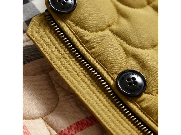 Collarless Scallop-quilted Jacket in Dusty Citrine - Girl | Burberry - cell image 1