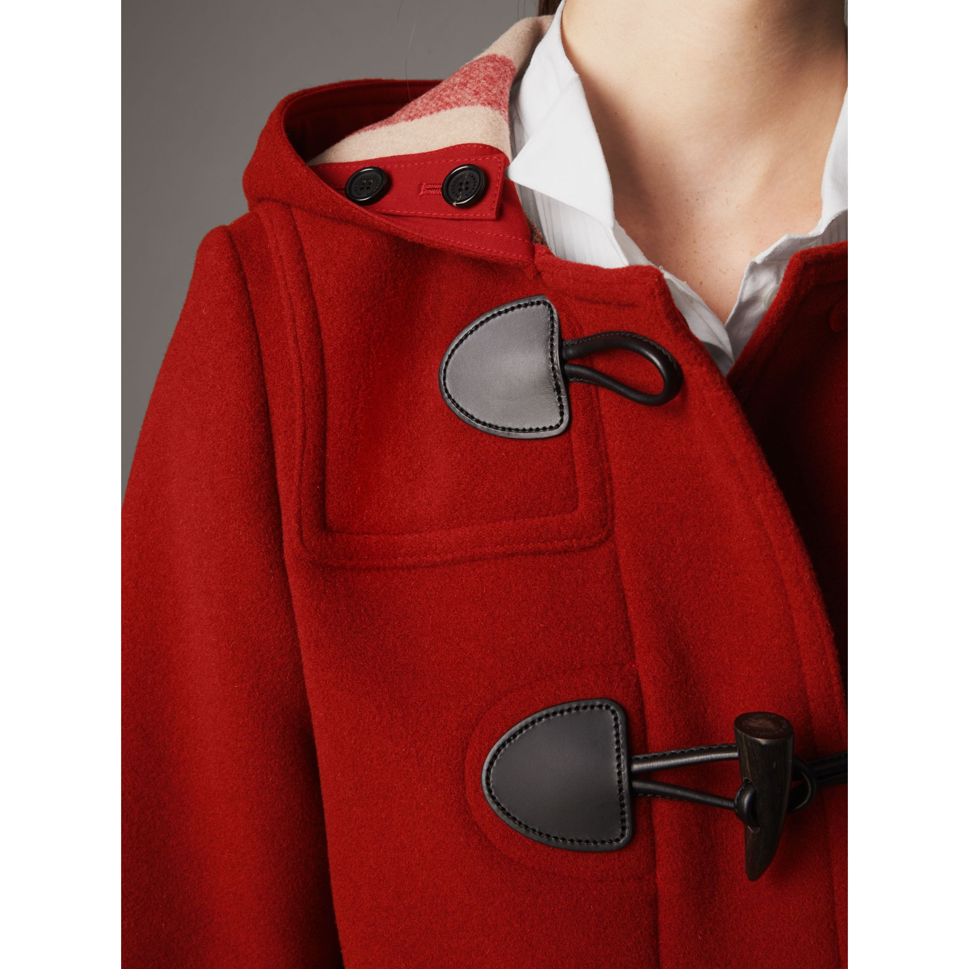The Mersey Duffle Coat in Parade Red - Women | Burberry - gallery image 2