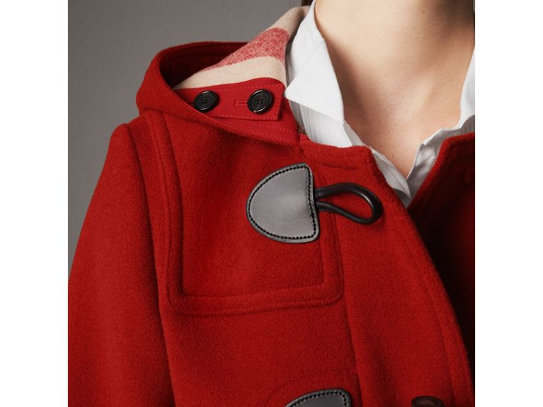 The Mersey Duffle Coat in Parade Red - Women | Burberry - cell image 1