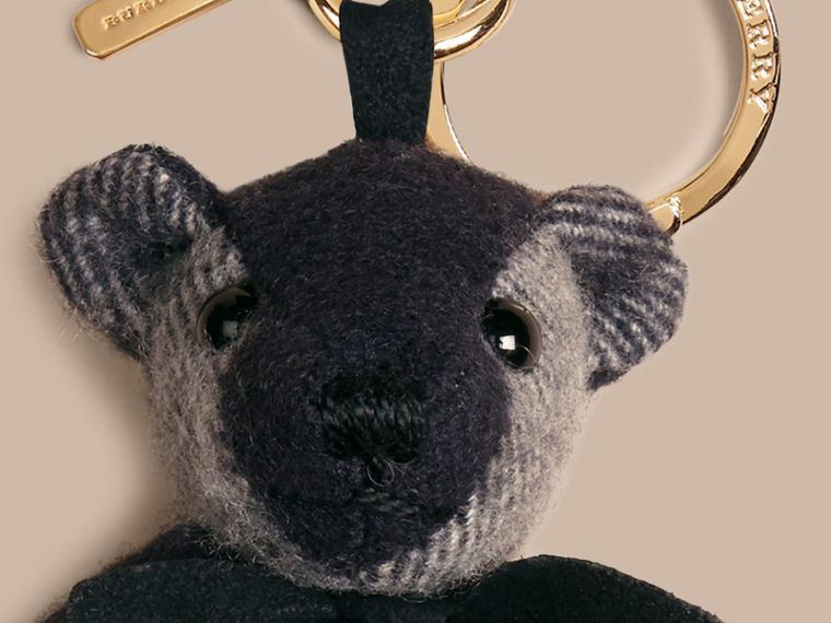 Navy Thomas Bear Charm in Check Cashmere Navy - cell image 1