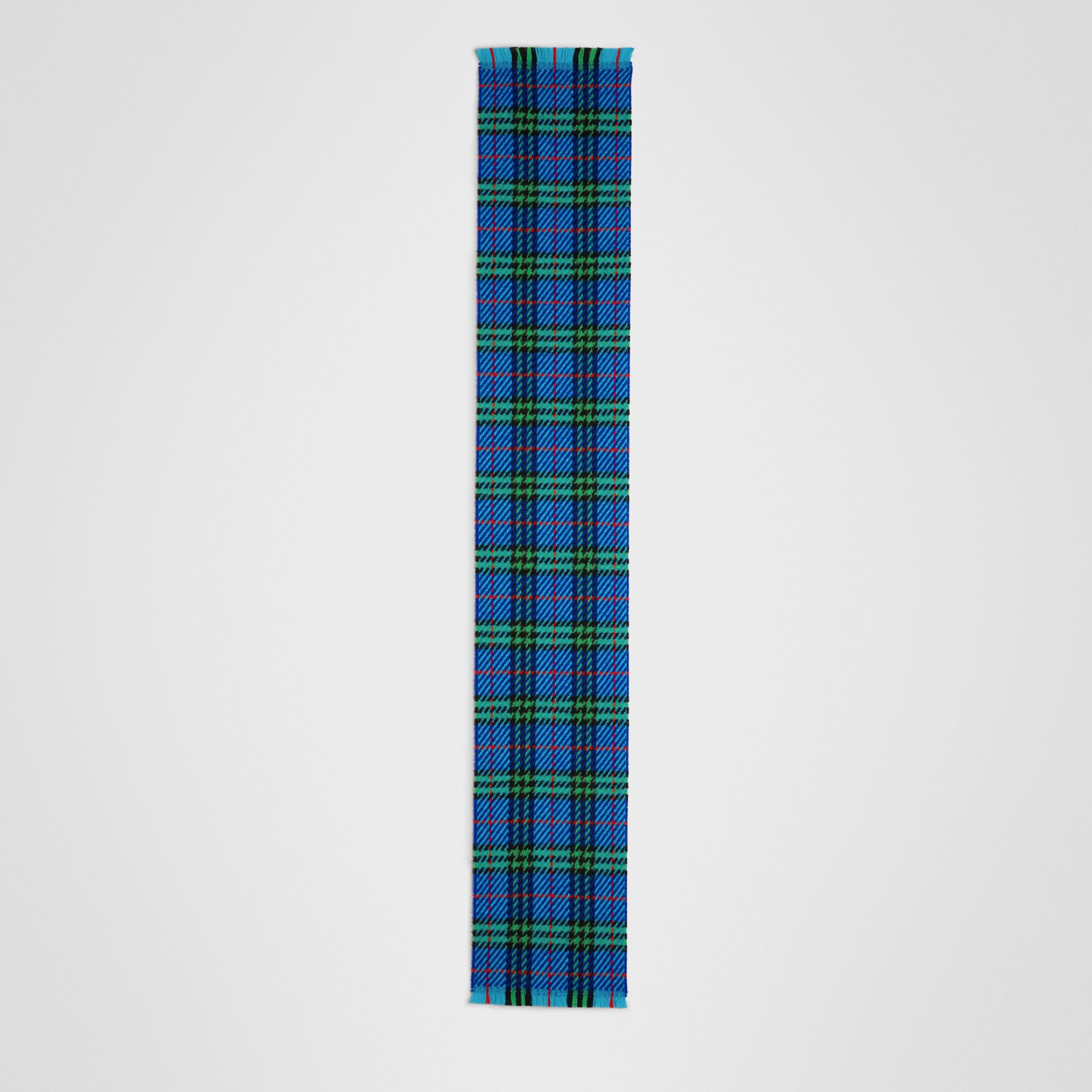 Vintage Check Merino Wool Scarf in Azure Blue | Burberry United States - gallery image 2