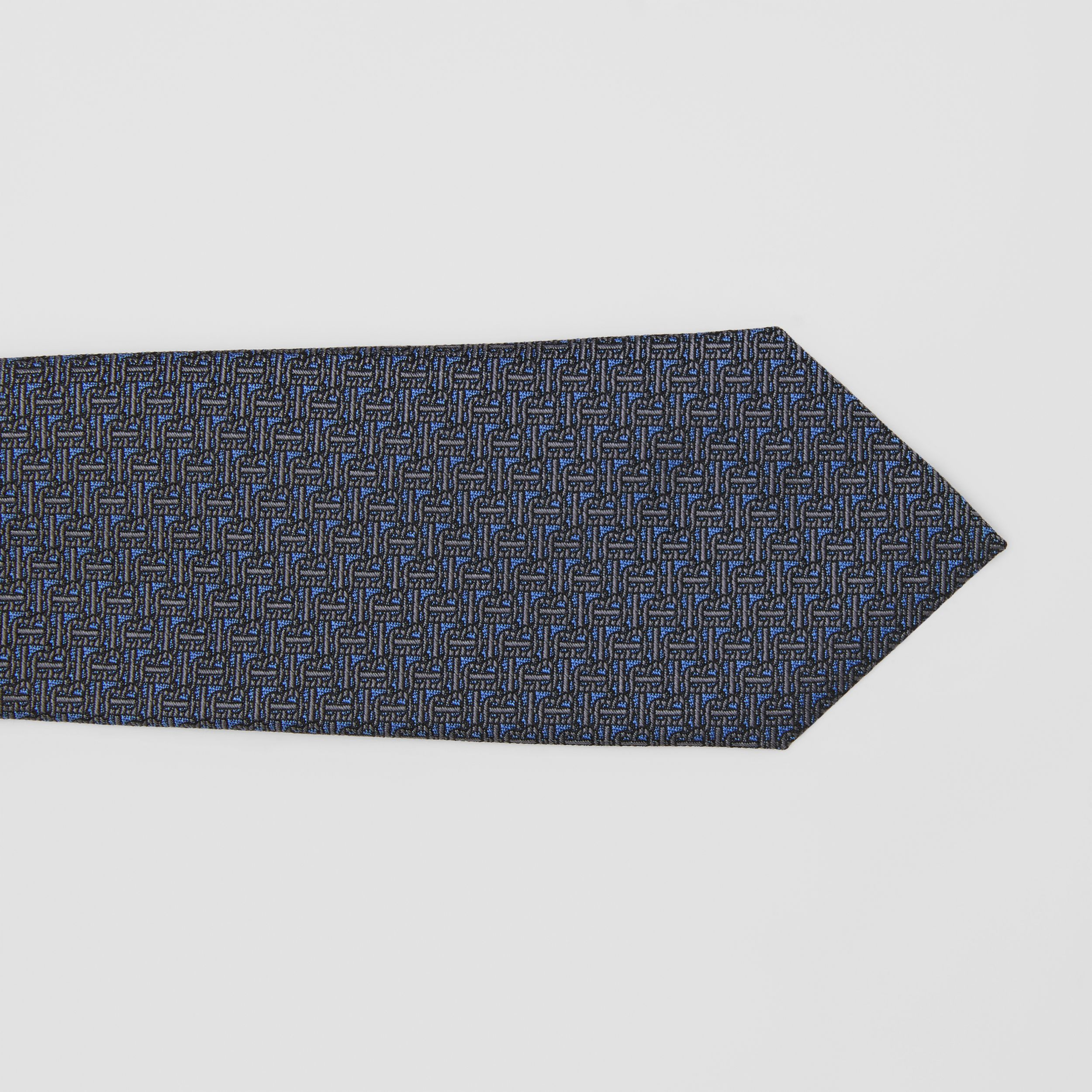 Classic Cut Monogram Silk Jacquard Tie in Canvas Blue - Men | Burberry - 2