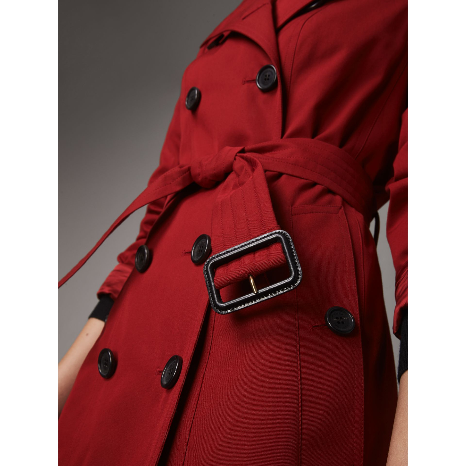 The Sandringham  – Long Trench Coat in Parade Red - Women | Burberry - gallery image 4