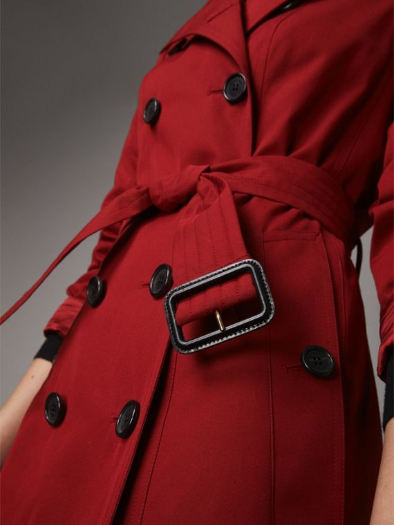 The Sandringham  – Long Trench Coat in Parade Red - Women | Burberry - cell image 3