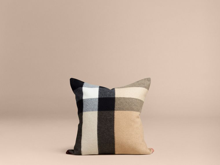 Camel Check Cashmere Cushion Cover Camel - cell image 2