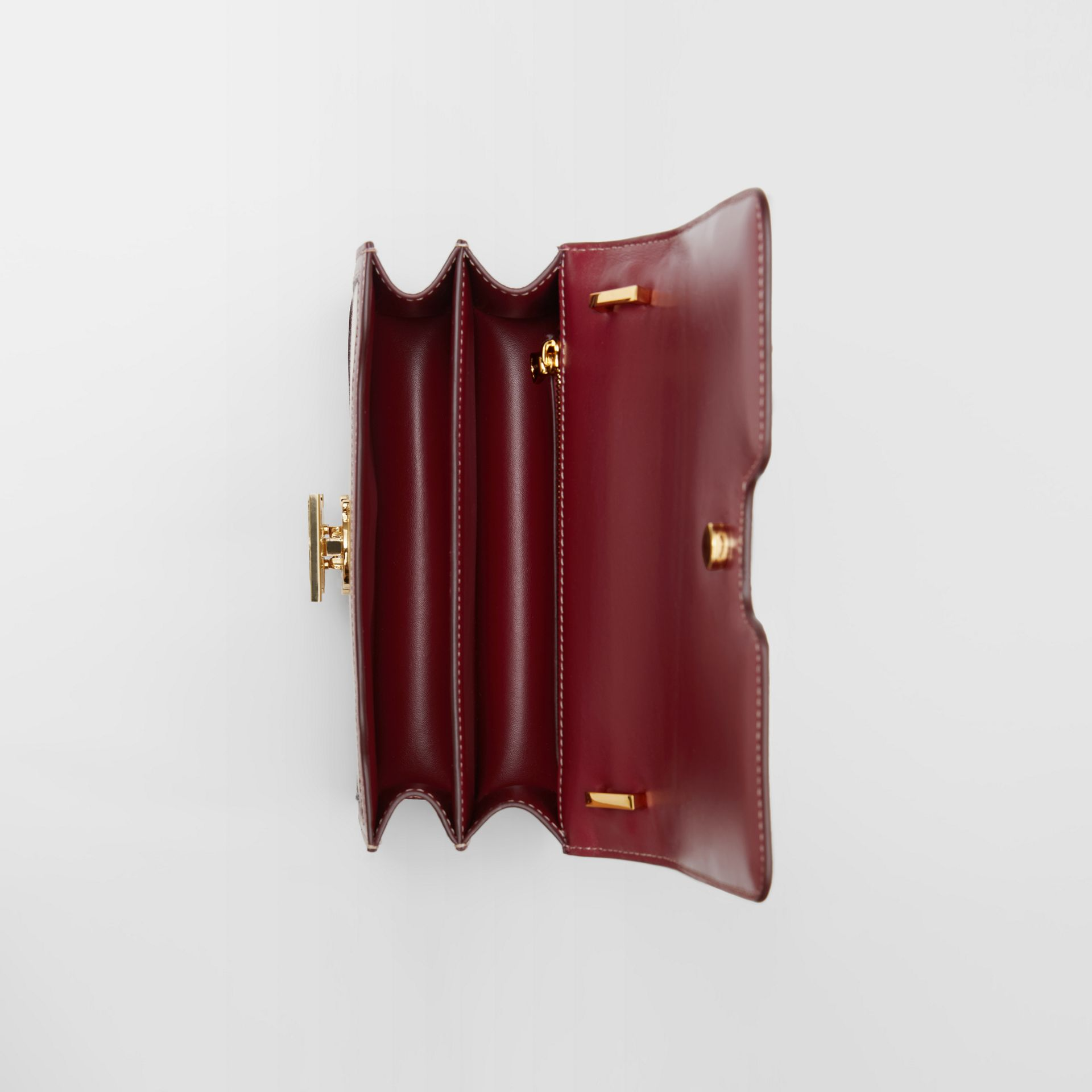 Small Two-tone Canvas and Leather TB Bag in Natural/dark Carmine - Women | Burberry - gallery image 3