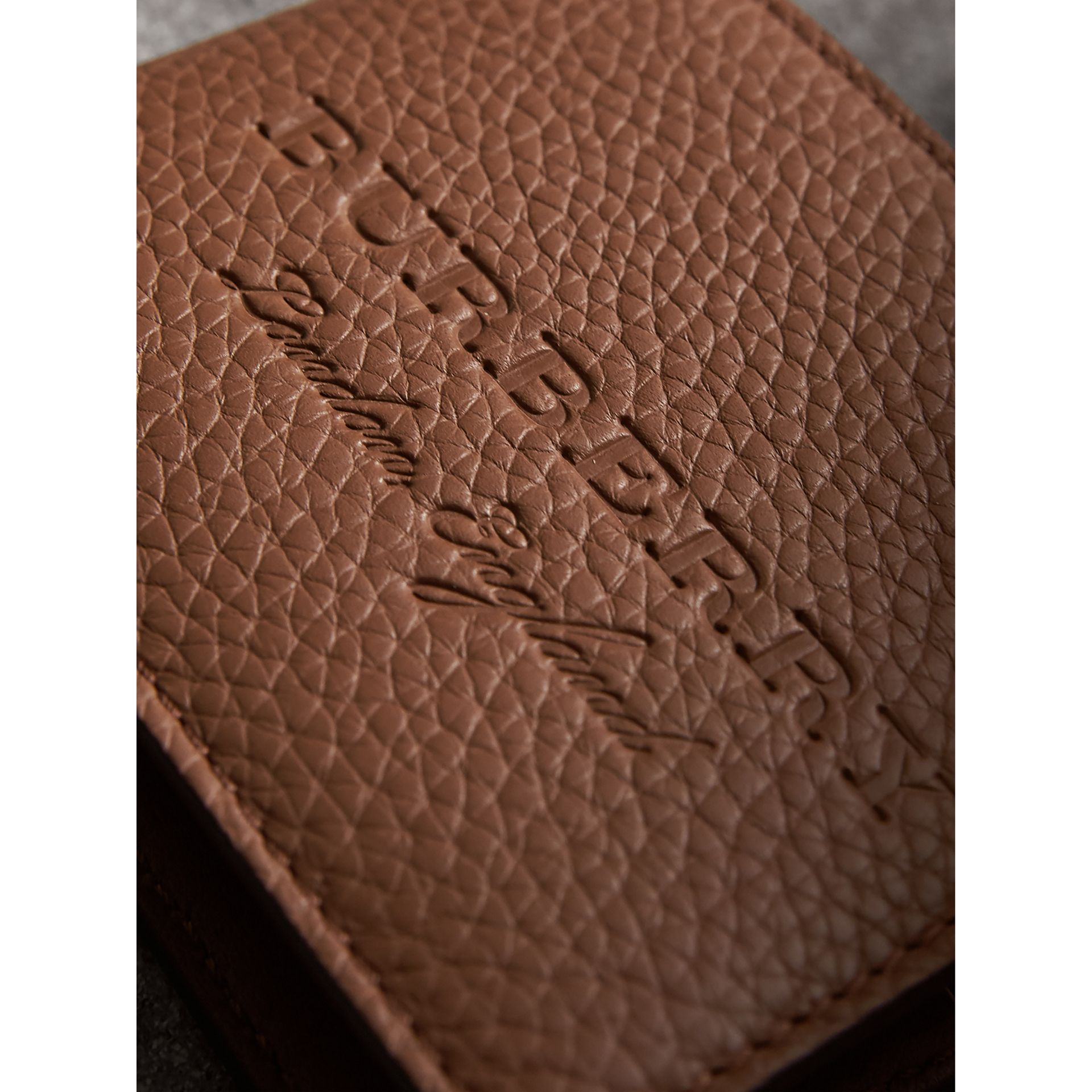 Textured Leather Bifold Wallet in Chestnut Brown - Men | Burberry Singapore - gallery image 1