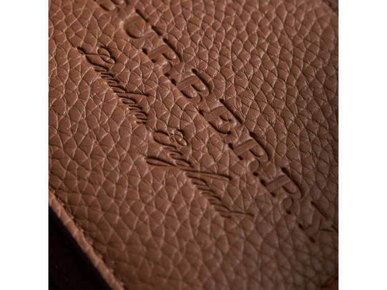 Textured Leather Bifold Wallet in Chestnut Brown - Men | Burberry Singapore - cell image 1