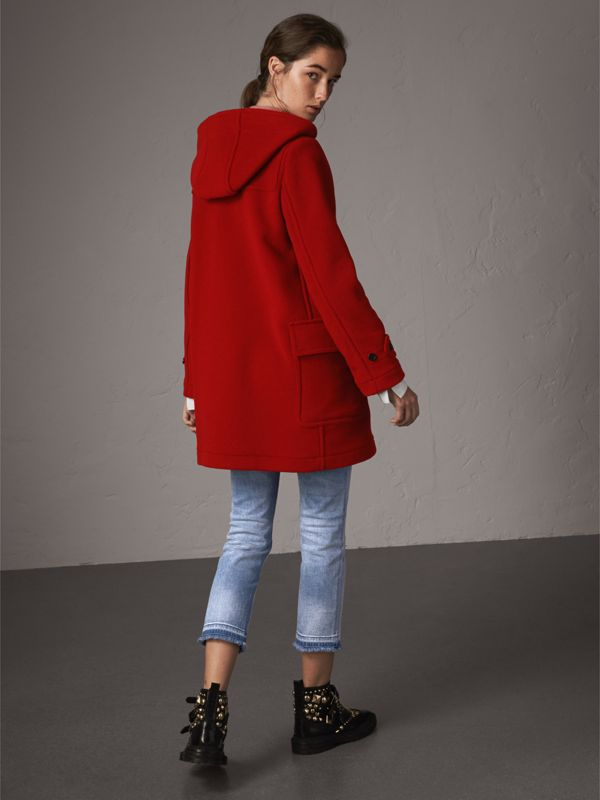The Mersey Duffle Coat in Parade Red - Women | Burberry - cell image 2