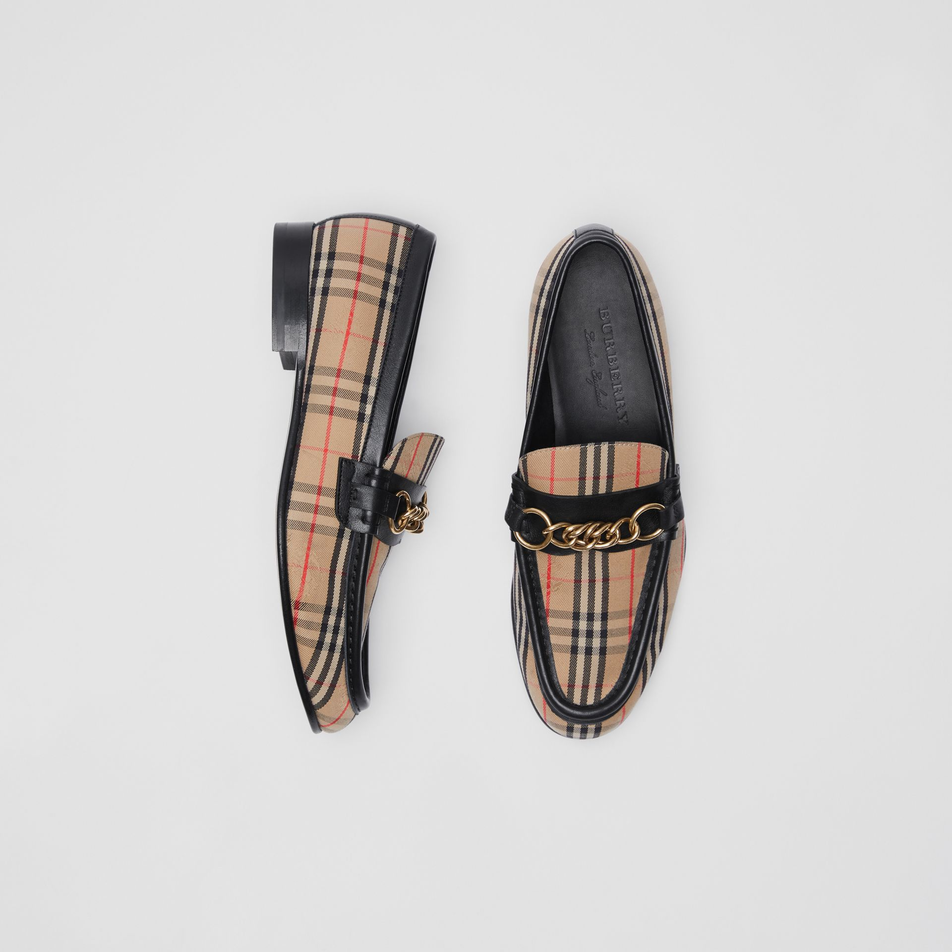 The 1983 Check Link Loafer in Black - Women | Burberry United States - gallery image 0