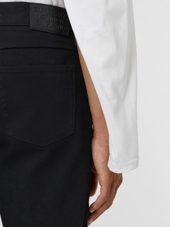 Slim Fit Japanese Denim Jeans in Black - Men | Burberry - cell image 1
