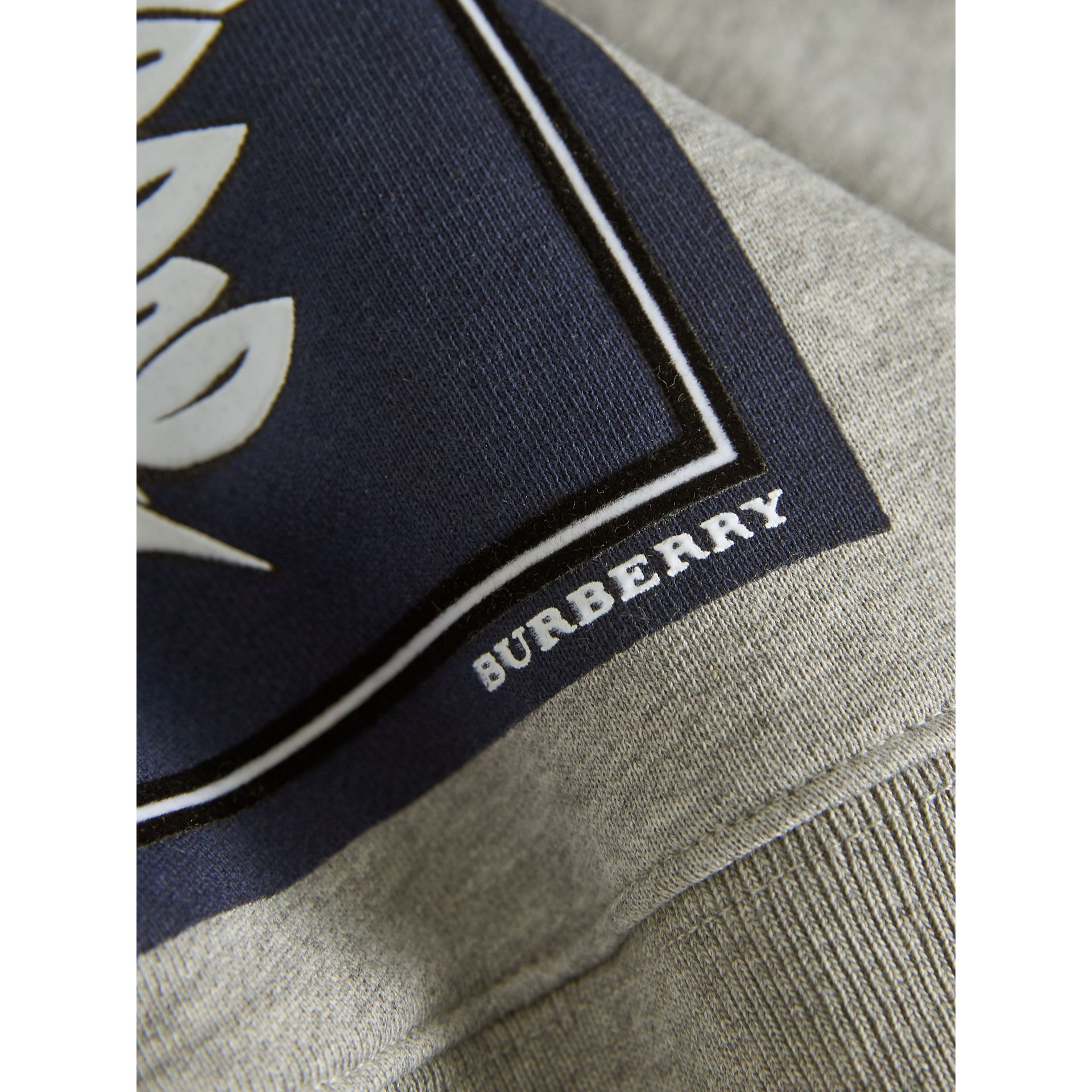 Beasts Print Cotton Sweatshirt in Deep Blue | Burberry Australia - gallery image 2