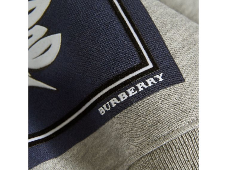 Beasts Print Cotton Sweatshirt in Deep Blue | Burberry - cell image 1