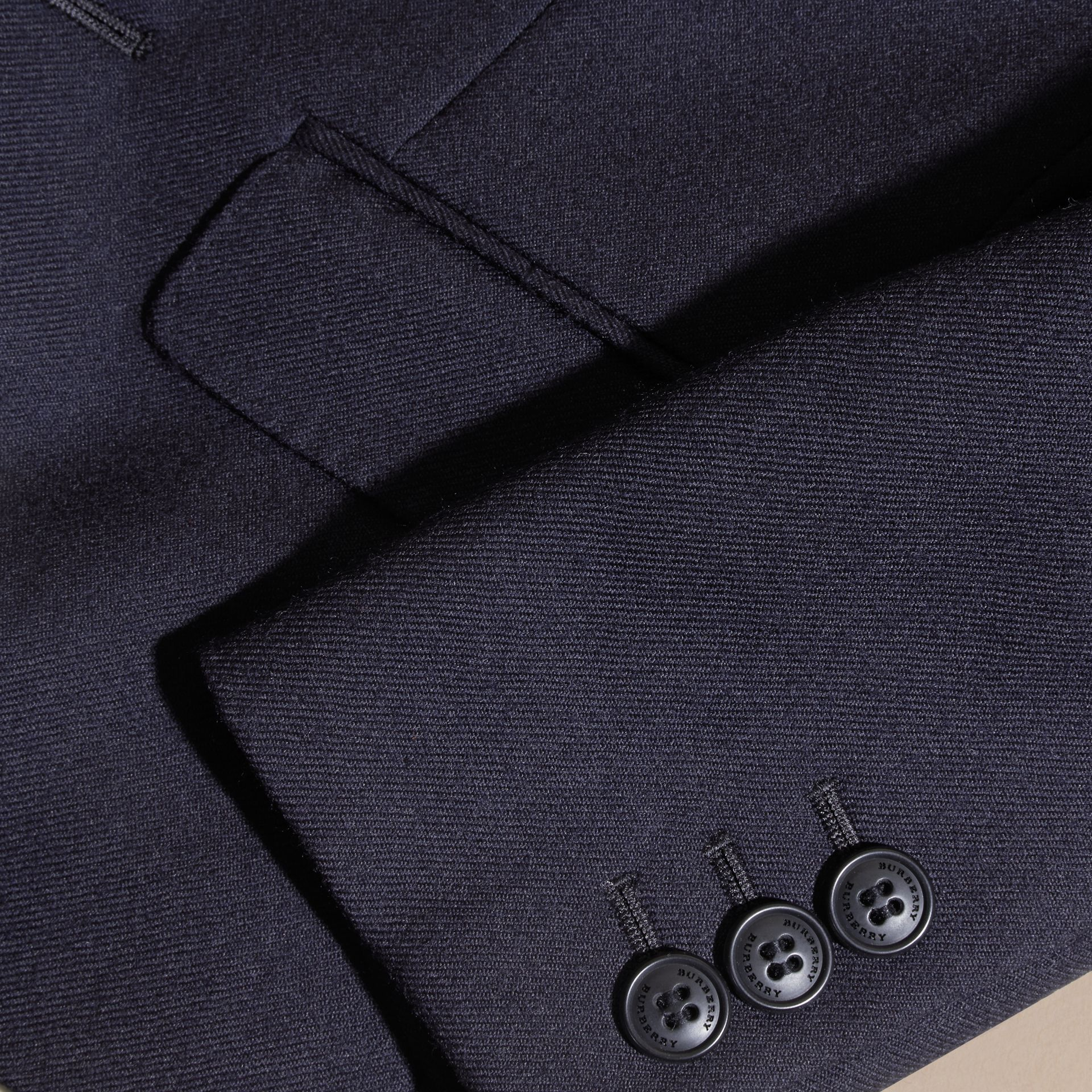 Navy Wool Blazer - gallery image 2