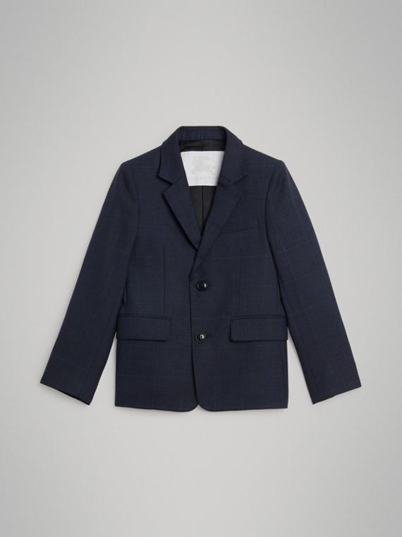 Blazer en laine à motif check Prince de Galles (Marine Vif)
