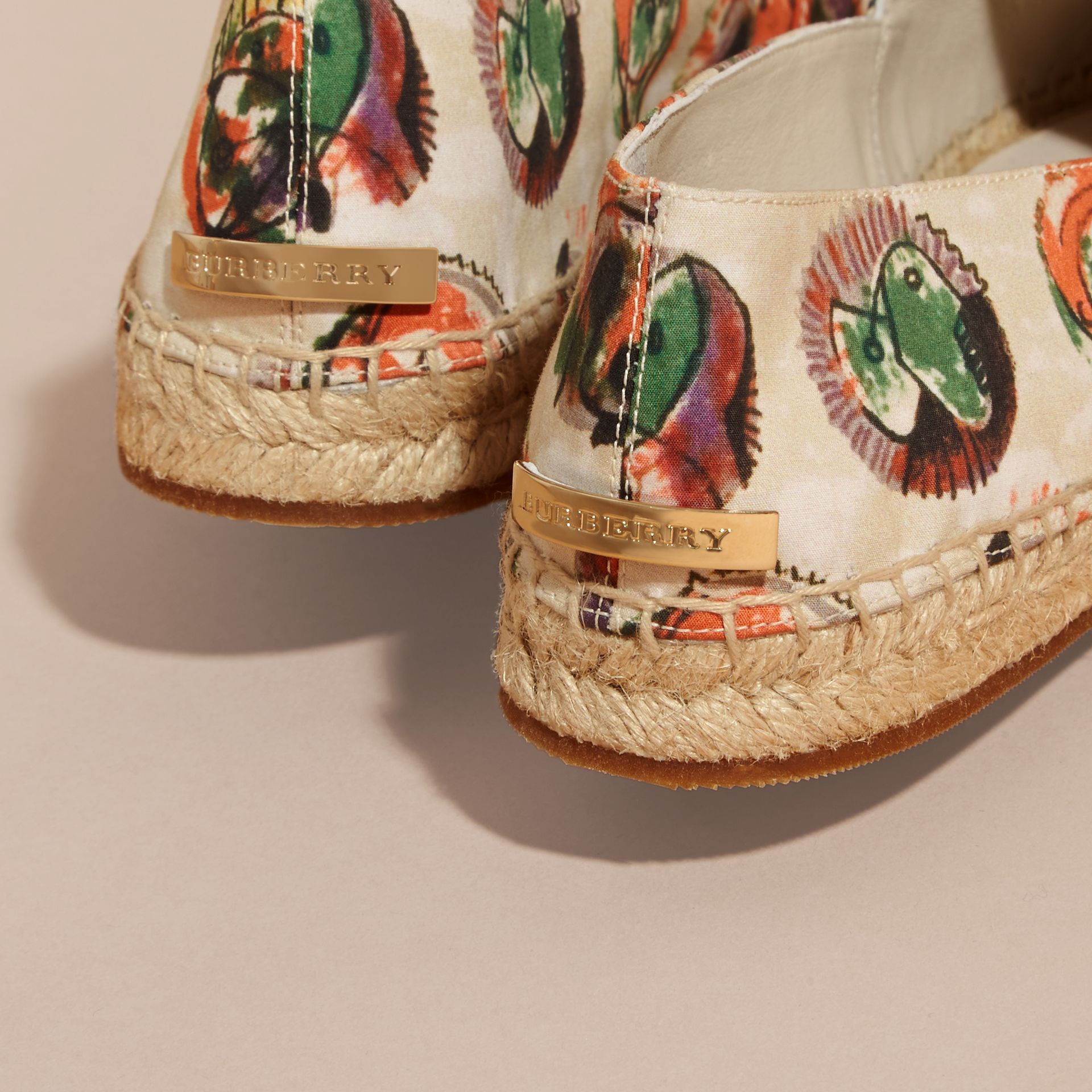Pallas Heads Print Cotton Espadrilles - gallery image 5