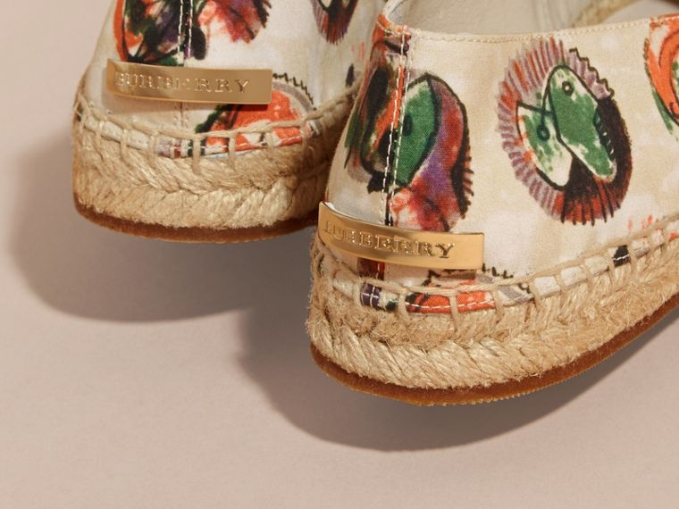 Pallas Heads Print Cotton Espadrilles - cell image 4