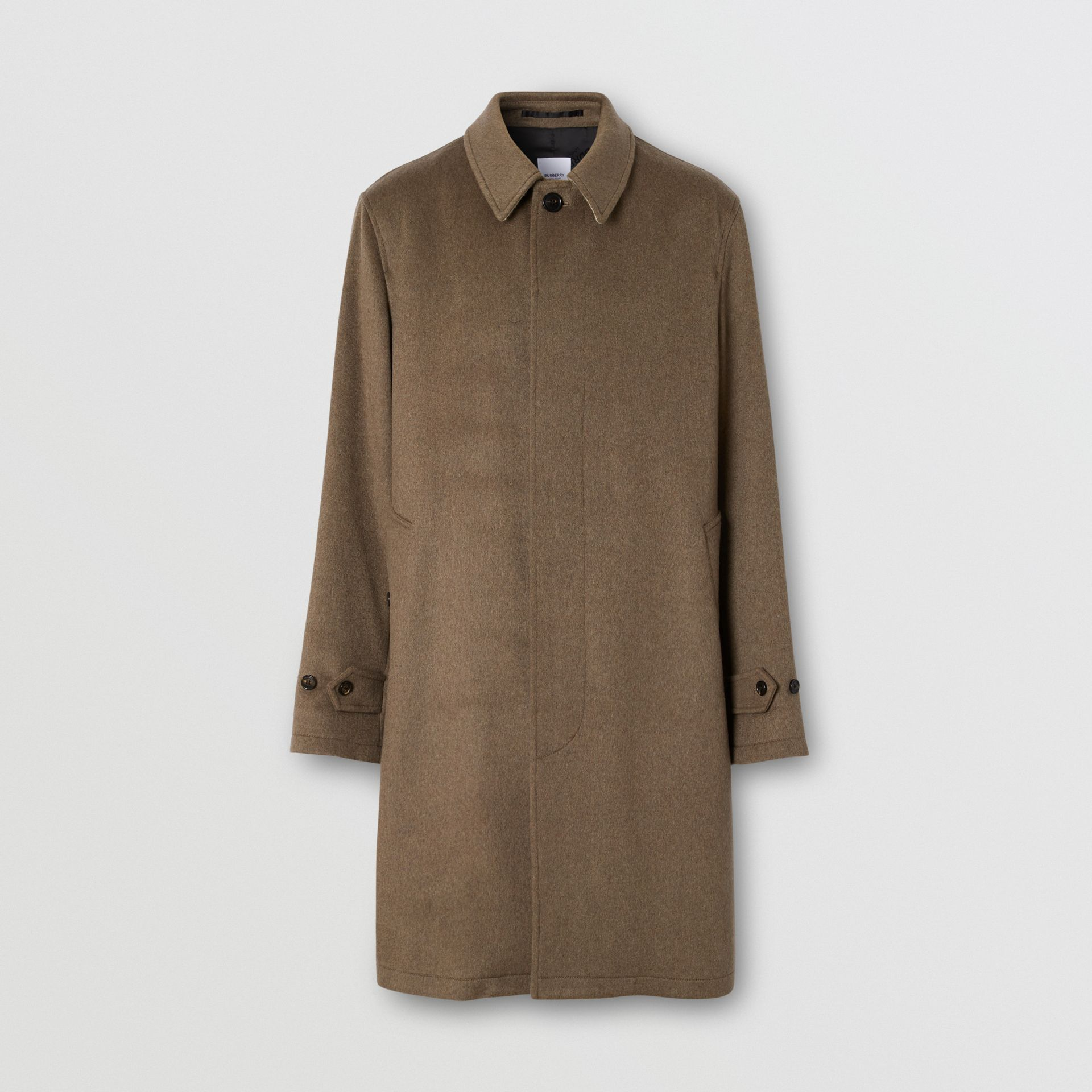 Cashmere Car Coat in Deep Taupe Melange - Men | Burberry - gallery image 3