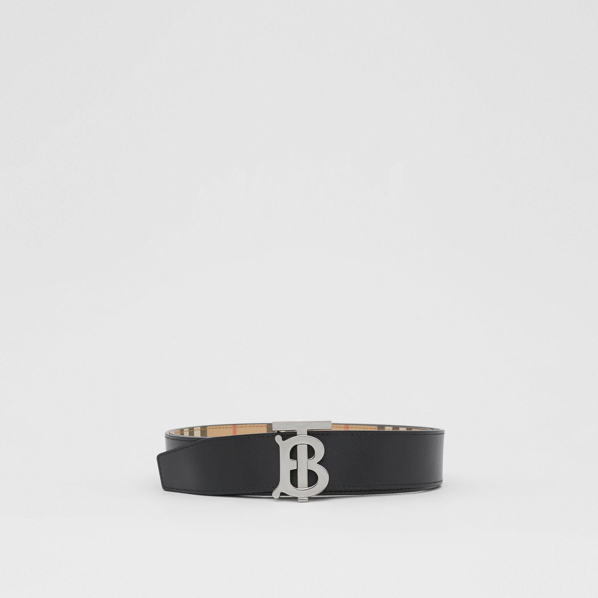 Reversible Monogram Motif Vintage Check Belt in Archive Beige - Men | Burberry - gallery image 5
