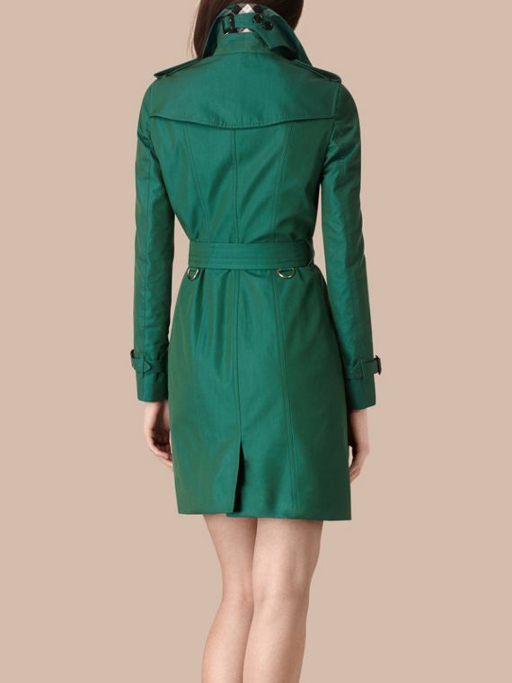 Aqua green Cotton Gabardine Trench Coat Aqua Green - cell image 2