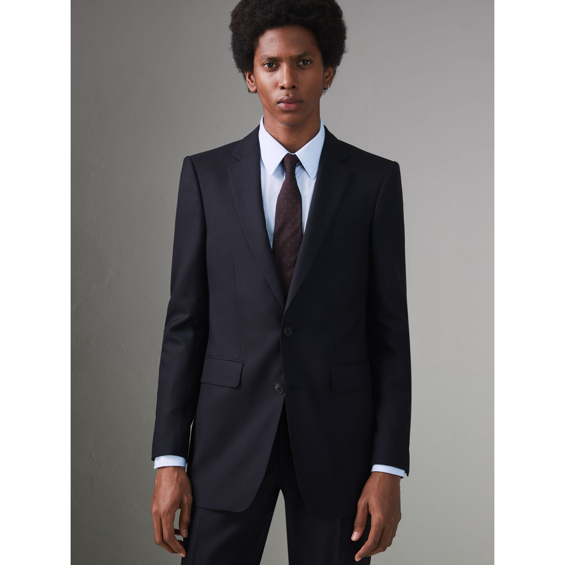 Modern Fit Wool Twill Suit in Navy - Men | Burberry - gallery image 5
