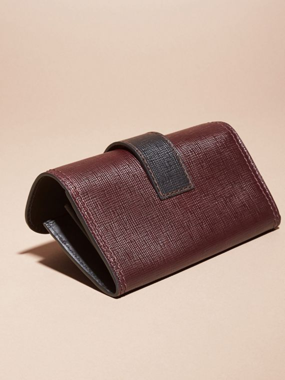 Burgundy/black Textured Leather Continental Wallet - cell image 3