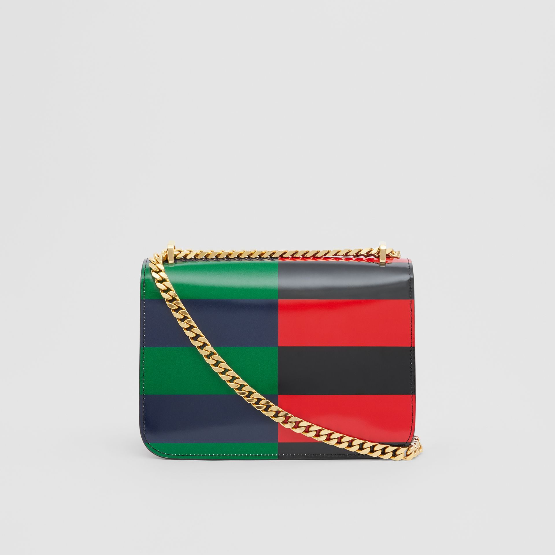 Small Striped Leather TB Bag in Black - Women | Burberry - gallery image 7