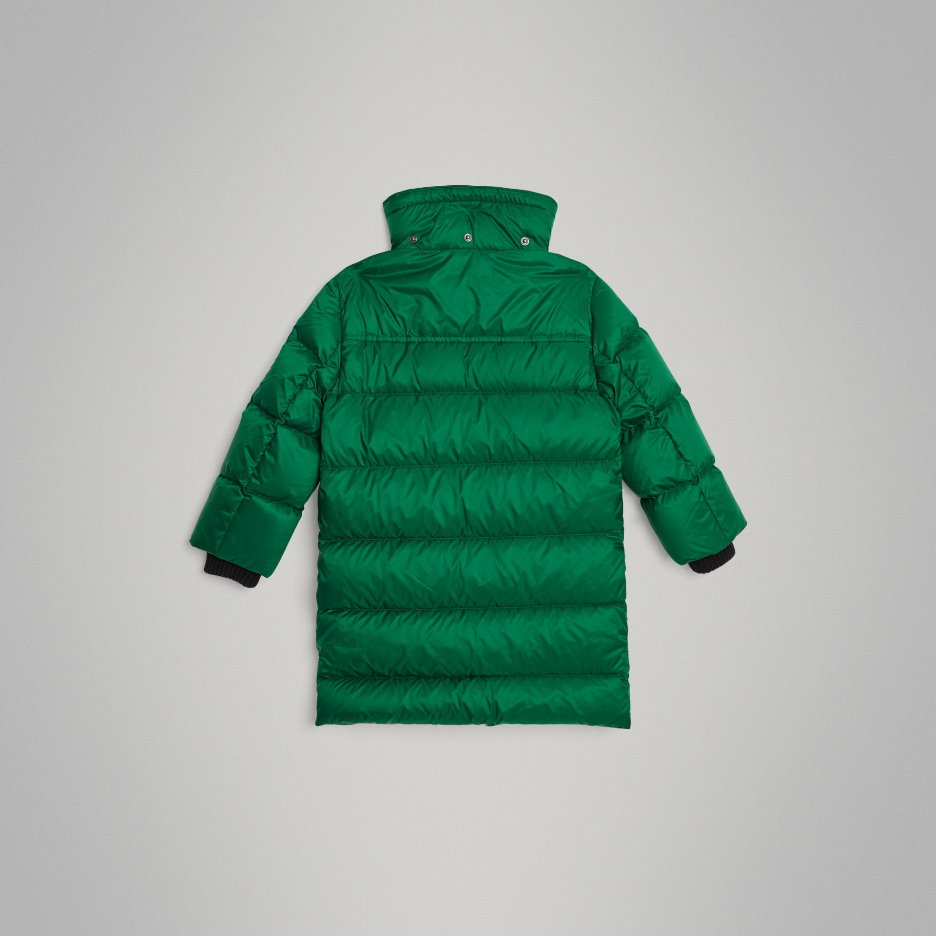 Detachable Hood Down-filled Puffer Coat in Dark Pigment Green | Burberry Singapore - gallery image 3