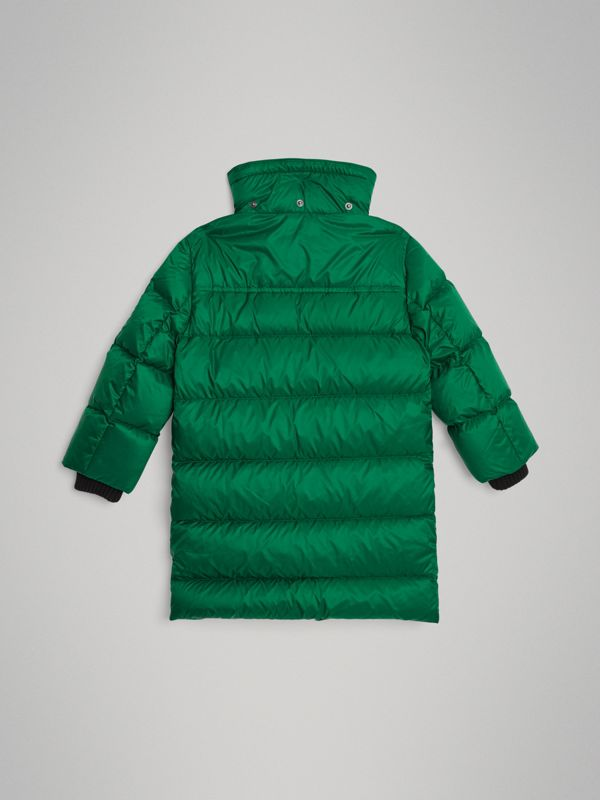 Detachable Hood Down-filled Puffer Coat in Dark Pigment Green | Burberry Singapore - cell image 3