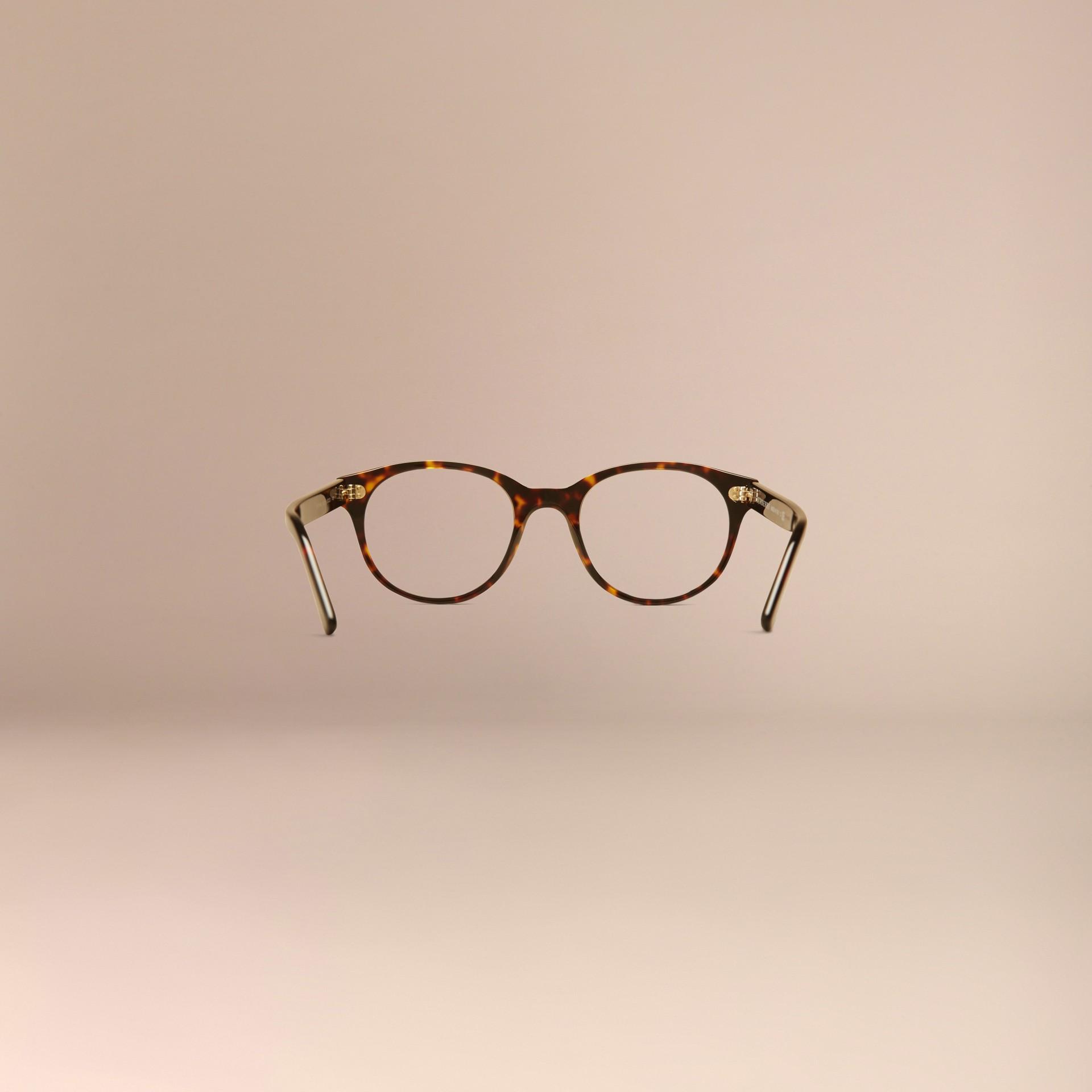 Écaille de tortue Monture ronde pour lunettes de vue Écaille  Tortue - photo de la galerie 4