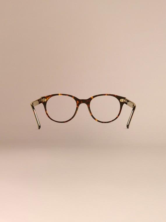Écaille de tortue Monture ronde pour lunettes de vue Écaille  Tortue - cell image 3
