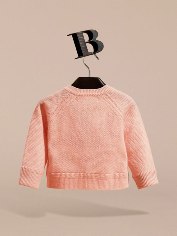 Textured Cashmere Cardigan in Blossom - cell image 2