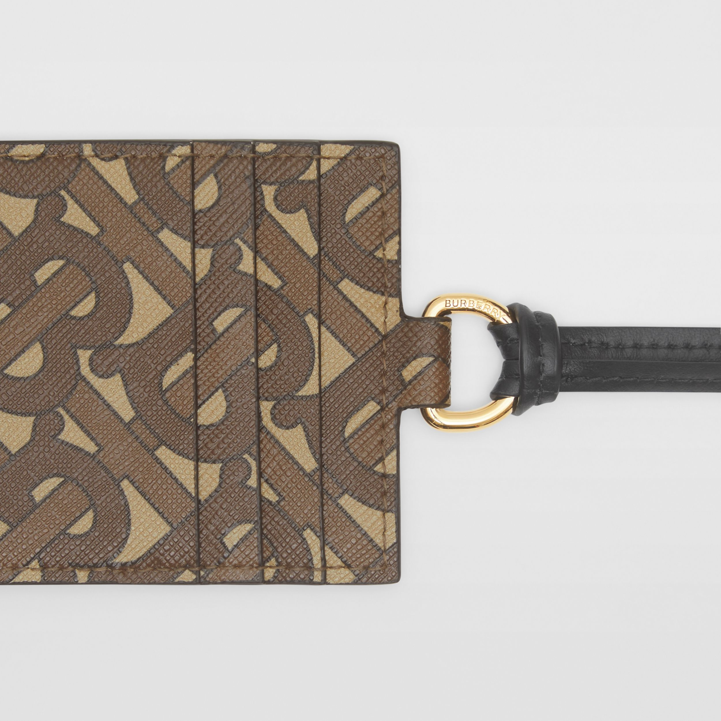 Monogram Print E-canvas Card Case Lanyard in Bridle Brown - Men | Burberry Australia - 2