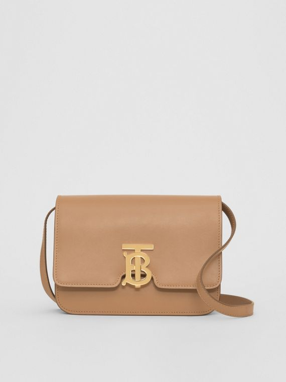 Small Leather TB Bag in Light Camel
