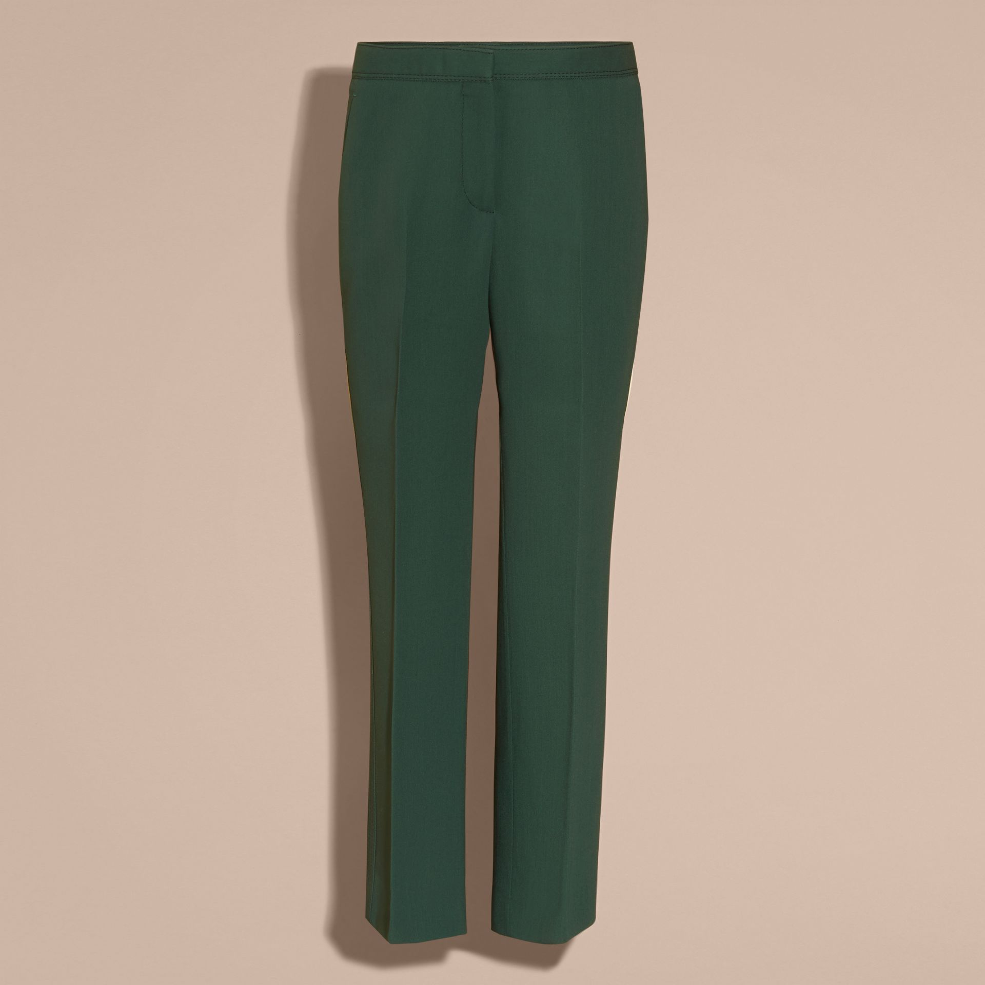 Deep green Cropped Tailored Trousers Deep Green - gallery image 3