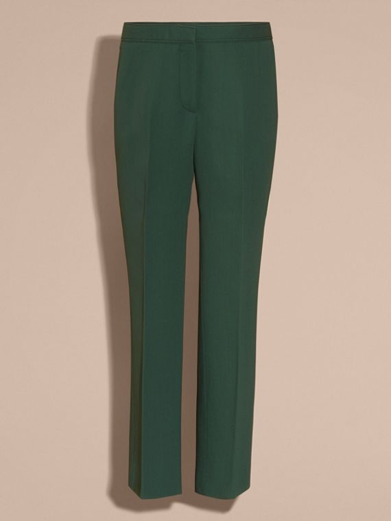 Deep green Cropped Tailored Trousers Deep Green - cell image 2