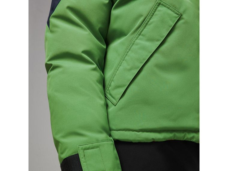 Tri-tone Down-filled Reversible Jacket in Bright Grass Green - Men | Burberry Australia - cell image 4